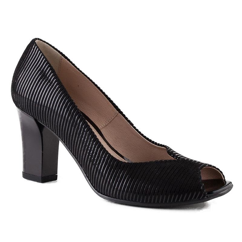 0316P-189-021-1 Marco Shoes czarne czółenka w paski