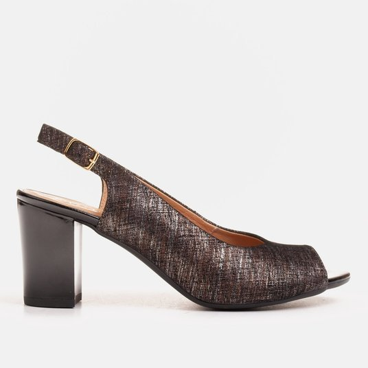 Marco black sandals with a metallic pattern