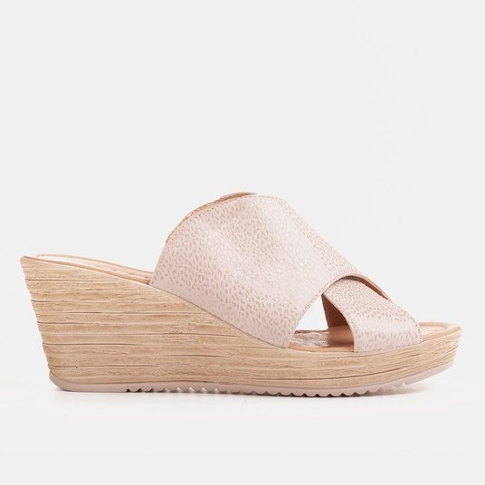 Women's sandals on a light wedge