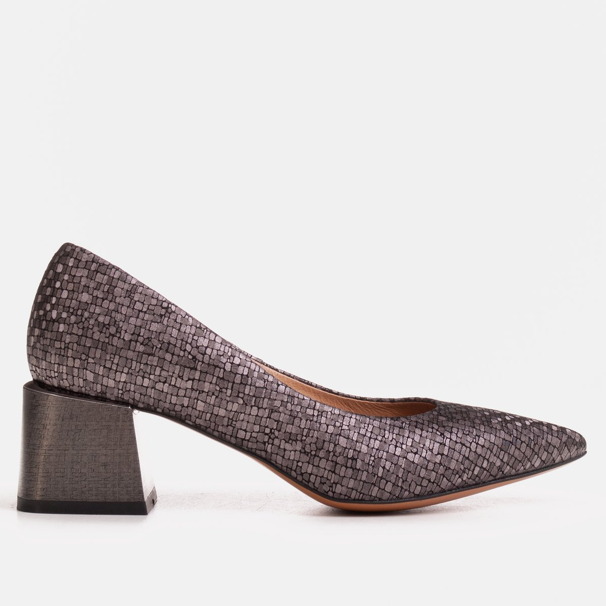 Elegant women's pumps made of embossed leather - MarcoShoes.eu Online Shop