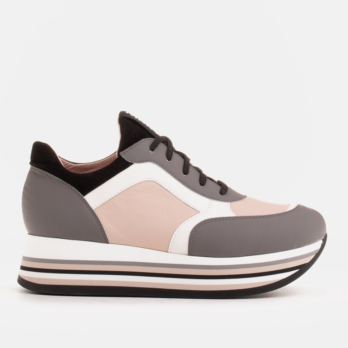Light sneakers on a thick sole made of