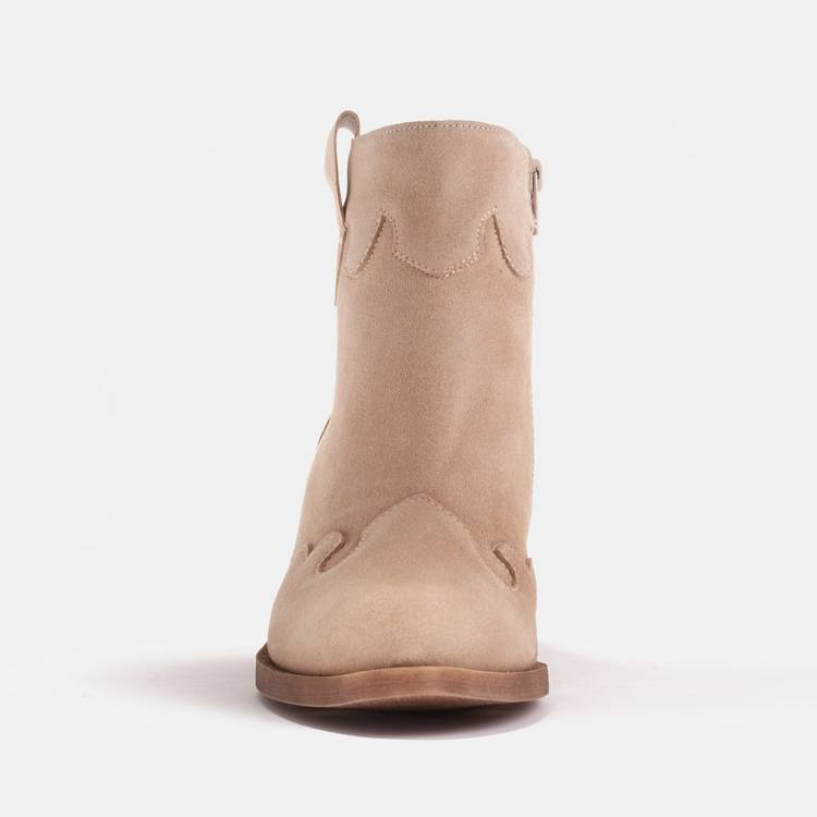 Beige suede boots from a natural spring