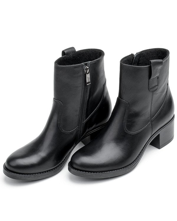 Black boots for women Marco 1353B with rubber heel