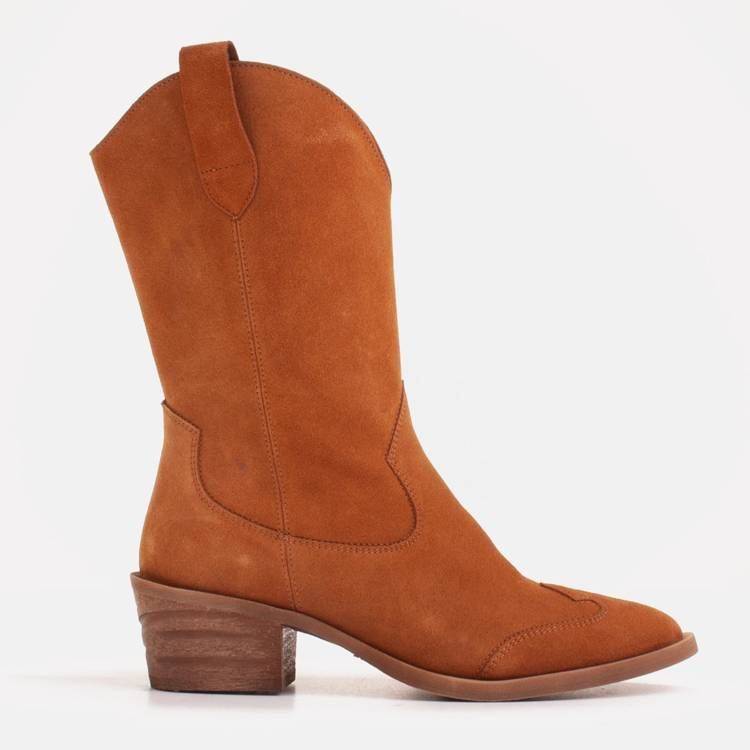 Copper suede boots from a natural spring
