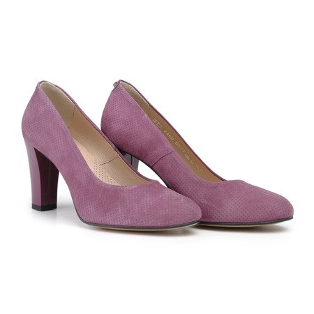 Shoes purple suede leather with 3D points